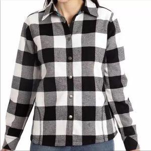 Orvis | Black & White Plaid Shirt Jacket
